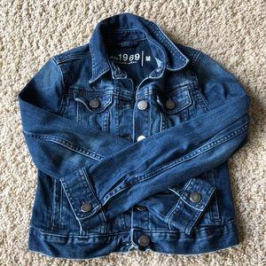 Girls GAP 1969 cropped denim Jean jacket Medium